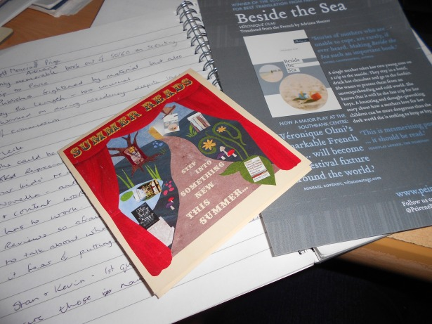 Beside the Sea flyer and Summer Reads programme