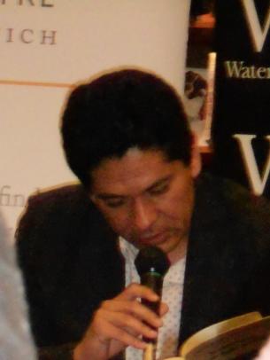 Juan Pablo Villalobos reading from Quesadillas