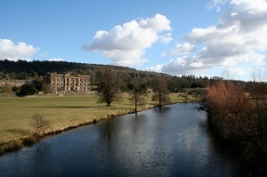 Pemberley? Clearly actually Chatsworth, but hey.  http://www.flickr.com/photos/tom-herbert/