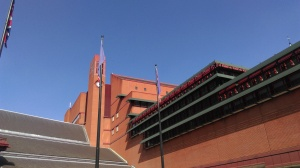 British Library and blue sky