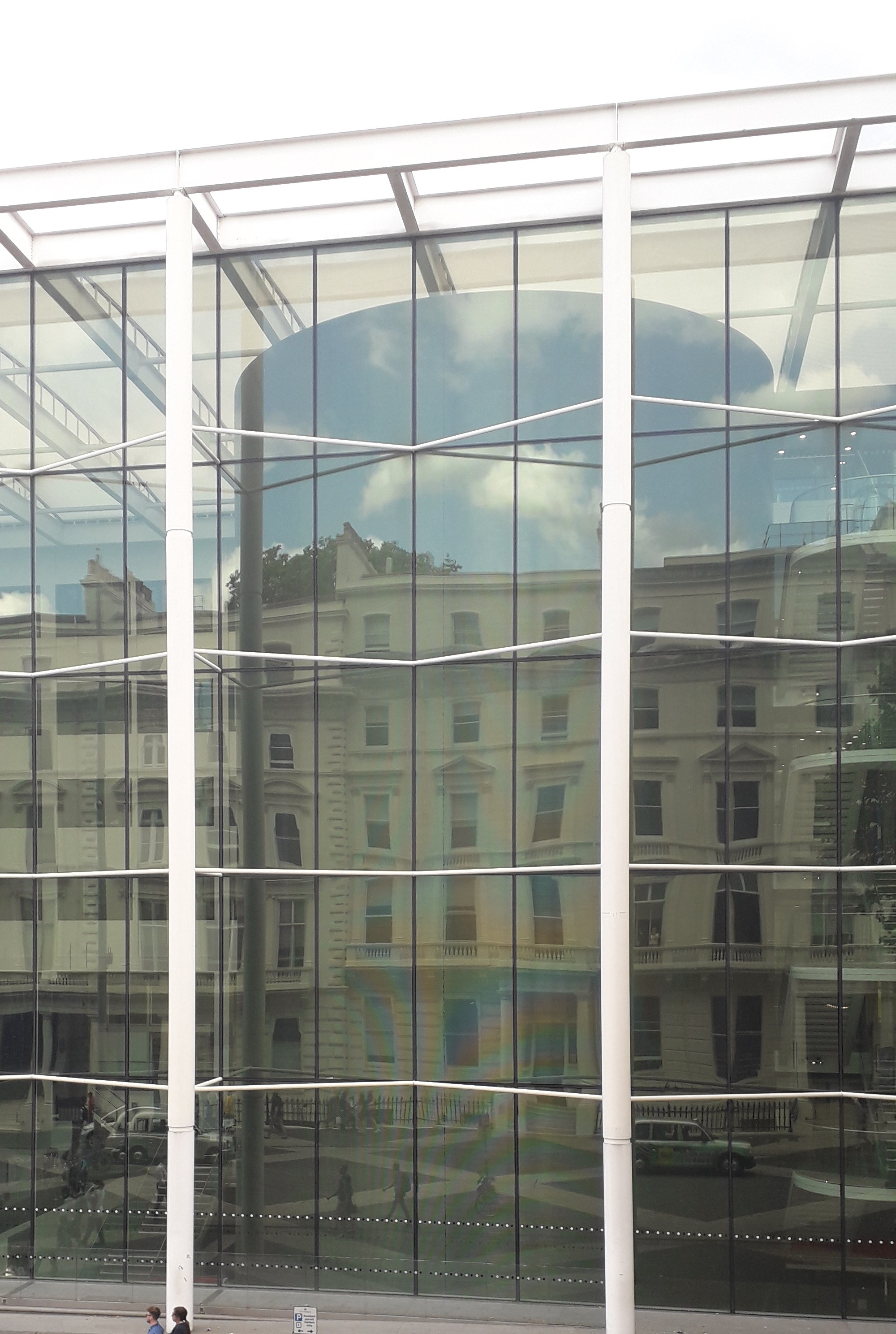 The Goethe Institut reflected in the windows of Imperial College over the road